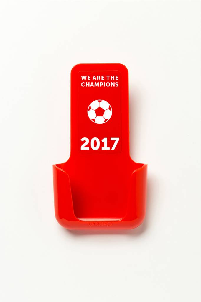YOU·P® YOU·P® smartphonehouder | rode houder | 2 x rood klepje | Champions 2017