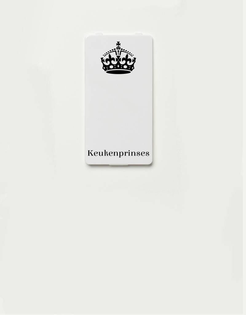 YOU·P® YOU·P® - cover for YOU·P smartphone holder | Keukenprinses (black on white)
