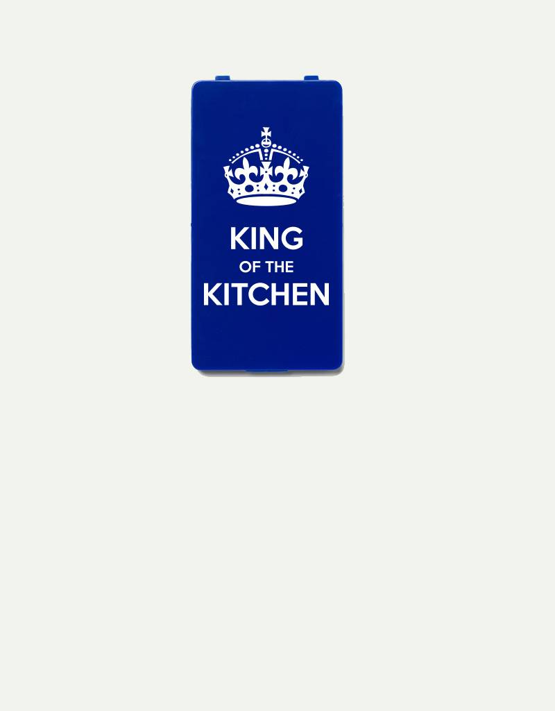 YOU·P® YOU·P®-klepje |  King of the kitchen - wit op blauw