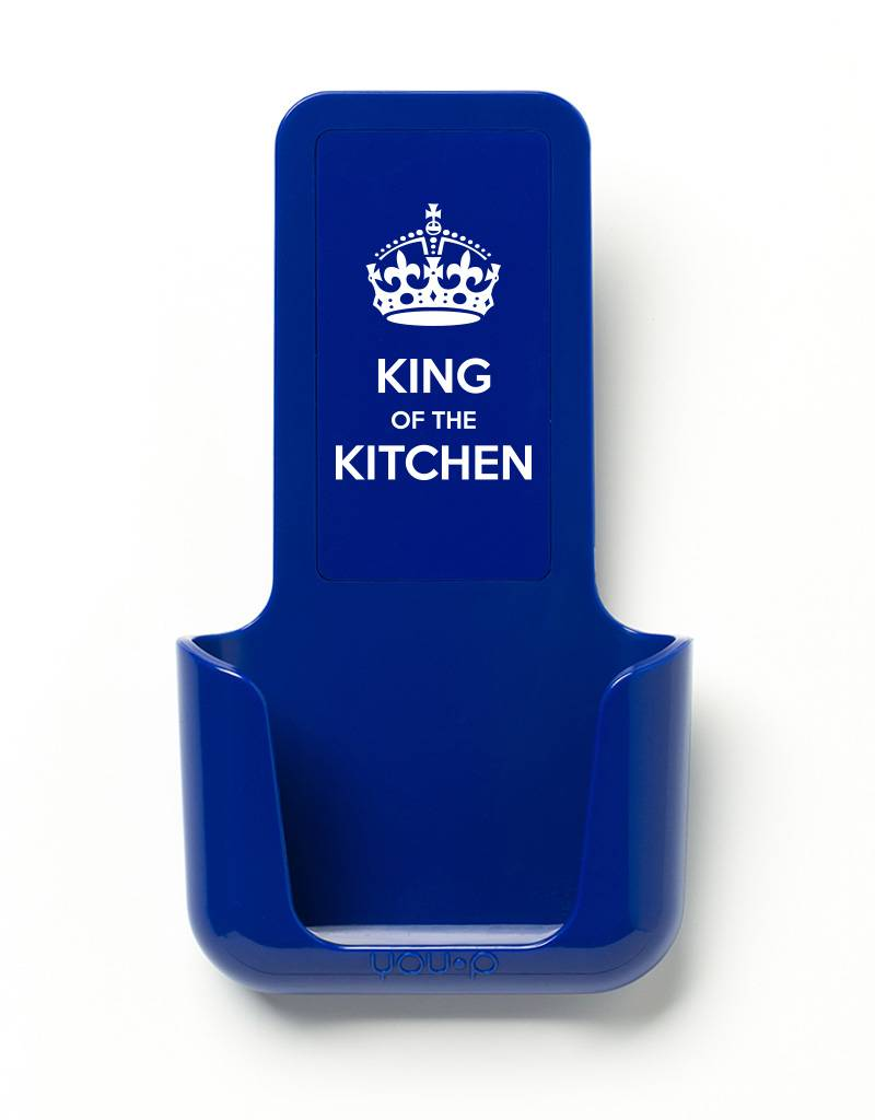 YOU·P® YOU·P® smartphone holder | blue holder | blue cover | King of the Kitchen