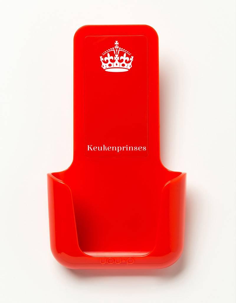 YOU·P® YOU·P® smartphonehouder | rode houder | rood klepje |  Keukenprinses