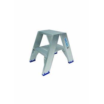 Solide Dubbele Trap 2x2 treden (max. werkhoogte 2,30 m)