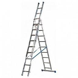 MAXALL®  MAXALL®  Driedelige Rechte Reformladder 3x9 (max. werkhoogte 8 meter)