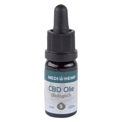 Medihemp CBD Olie Puur 5% CBD, 10 ml.