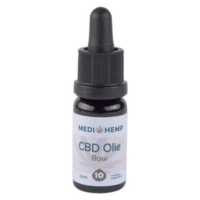 Medihemp CBD Olie Raw 10% CBD, 10 ml.