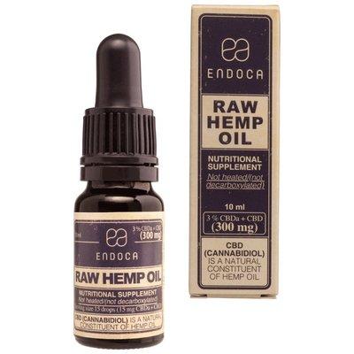 Endoca CBD Olie Raw 3%, CBD en CBD- A.