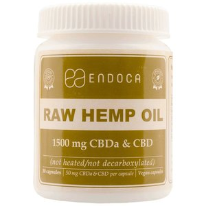 Endoca CBD Capsules Raw 15% CBD, 1500 mg