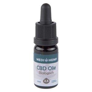 Medihemp CBD Olie Puur 2,5% CBD, 10 ml.