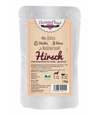 Herzenshund Hirsch mit Bio-Gemüse 130 g
