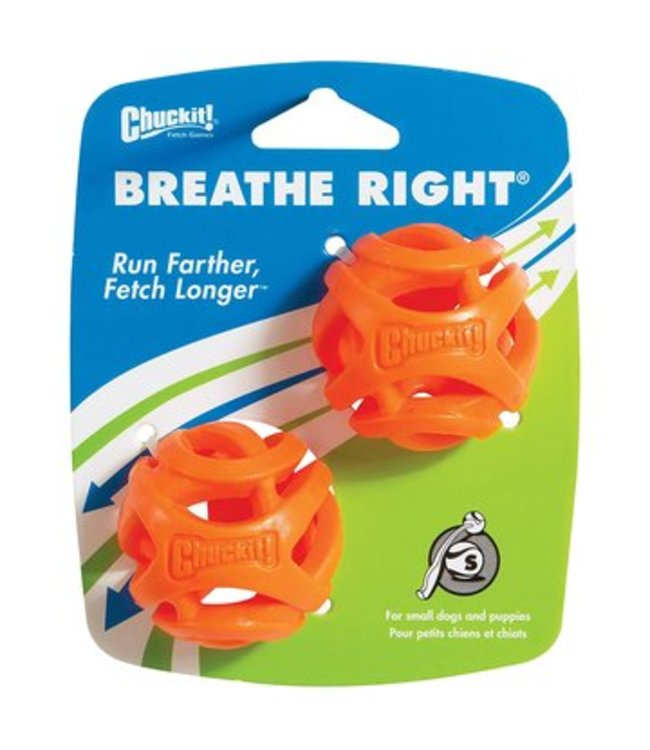 Chuck-it Fetch Games CHUCKIT BREATHE RIGHT FETCH BALL  - Small - 2er Pack