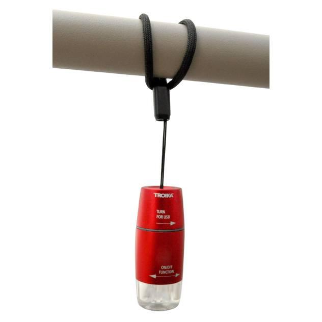 Troika USB Light 'USB oplaadbaar' rood