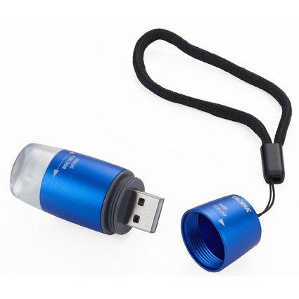 Troika USB Light 'USB oplaadbaar' blauw