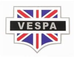Scooter Specialist N.I. Metal plaque badge - union vespa shield