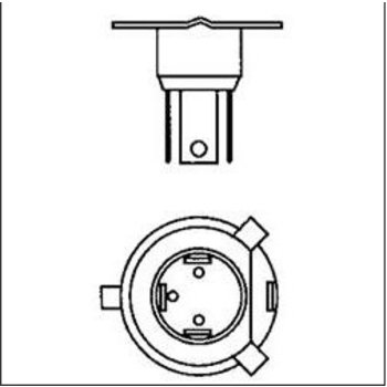 Scooter Specialist N.I. Bulb headlamp halogen ,12V/35/35W   BIN 286
