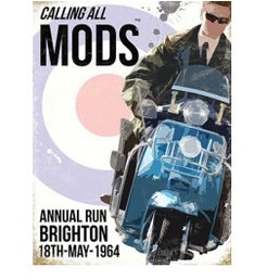 Scooter Specialist N.I. Calling All Mods Wall Sign
