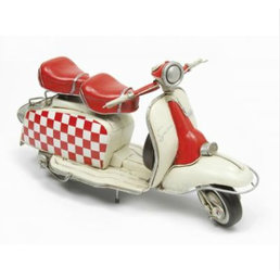 Scooter Specialist N.I. Lambretta metal model, chequered panel