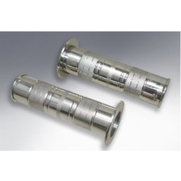 Scooter Specialist N.I. Handlebar Grips - Polished Stainless Steel - Vespa VBB GS