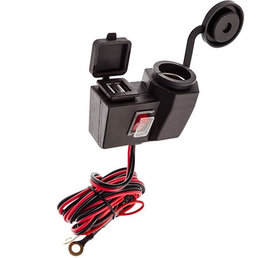 Ultimate Addons HW-DUAL-USB-CIGPLUG 12 Volt mobile accessory charger from Scooter Specialist N.I.