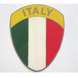 Metal plaque badge - Italian shield