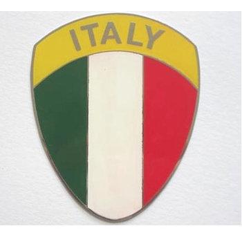 Metal plaque badge - Italian shield