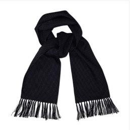 Lambretta Lambretta 100% silk scarf - mini dot navy