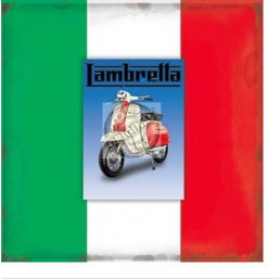 Scooter Specialist N.I. Lambretta blank greeting card with magnet