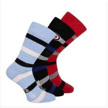 Lambretta Lambretta mens 3 pack mixed socks, stipes and roundal