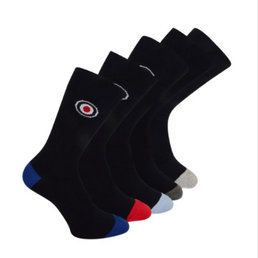 Lambretta Lambretta MENS 5 PACK HEAL AND TOE CAP SOCKS roundel