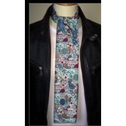Supernova Scarves liberty blue and green paisley scarf