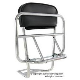 Scooter Specialist N.I. Luggage Carrier rear CUPPINI chrome 2in1 (PX/PE/T5/LML)