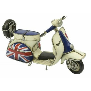 Scooter Specialist N.I. Classic Vespa model, blue uion jack side panel