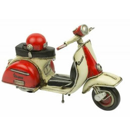 Scooter Specialist N.I. Classic Vespa model with helmet