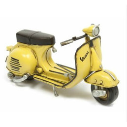 Scooter Specialist N.I. Classic Vespa model, yellow