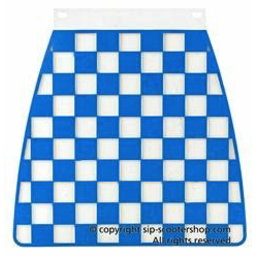 Scooter Specialist N.I. Mud flap - Blue/White Chequered