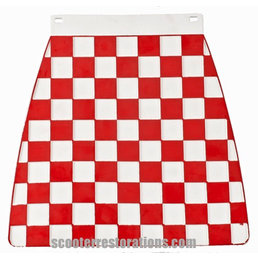 Scooter Specialist N.I. Mud flap - Red/White Chequered