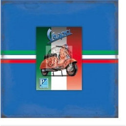 Scooter Specialist N.I. Vespa blank greeting card with magnet