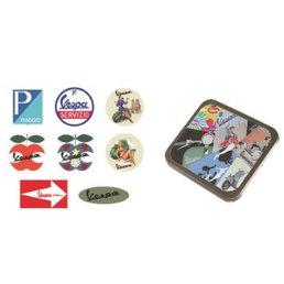 Vespa Vespa Tin with sticker set-1