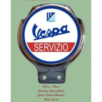 Royale Enamel Bar badge - Vespa Servizio