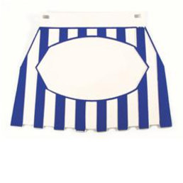 Mud flap blue/white striped