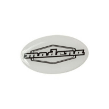 AJS AJS MODENA FRONT PROTECTOR BADGE - WHITE   Badge Box