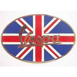 Metal plaque badge  - Union Vespa oval
