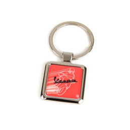 Vespa Red key ring