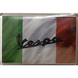 Vespa logo on flag magnet