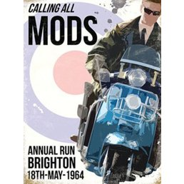Scooter Specialist N.I. Calling All Mods Brighton 1964 magnet