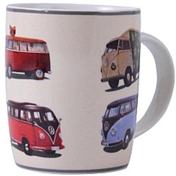 "VW BUTA03  ""Bus parade"" VW Camper Van Coffee Mug"