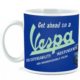 """Vespa VPCE27 """"Get ahead on a Vespa"""" Coffee Mug"""