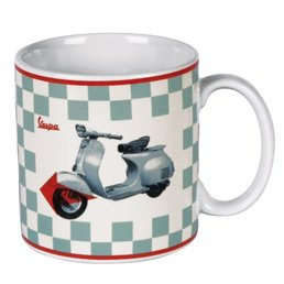 Vespa VPCE16 Chequered Design Coffee Mug