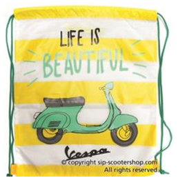 Vespa drawstring bag- yellow