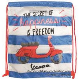 Vespa drawstring bag-blue