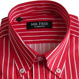 Mr Free Stripped shirt  RED  S